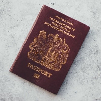 A photo of a british passport